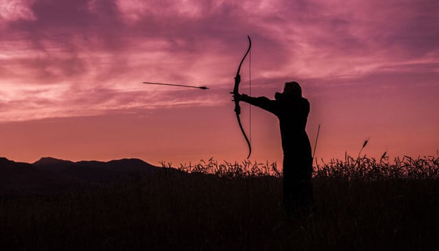 archer-shooting-at-sunset-3